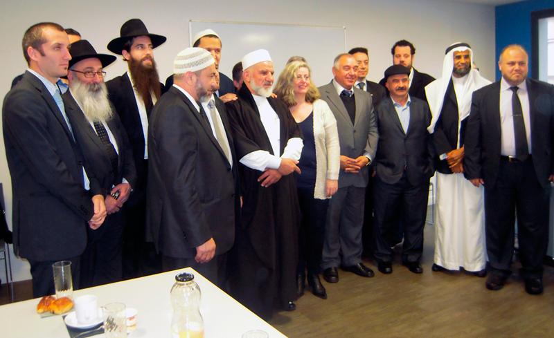 Une délégation d'imams israéliens.